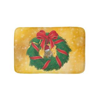 Tapete De Banheiro Grinalda bonito do Natal do Chipmunk