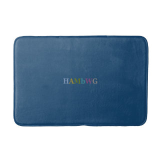 Tapete De Banheiro HAMbyWG - esteira de banho de 3 tamanhos - azul