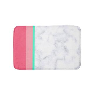 Tapete De Banheiro hortelã de mármore branca elegante do melão do