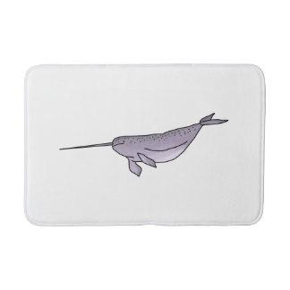 Tapete De Banheiro Ilustração de Digitas Narwhal, animal de mar