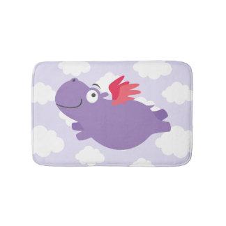 Tapete De Banheiro Ilustração do hipopótamo do vôo