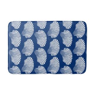 Tapete De Banheiro Impressão, azuis marinhos e branco de bloco de