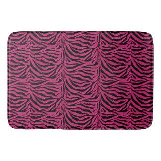 Tapete De Banheiro Impressão cor-de-rosa e preto da zebra