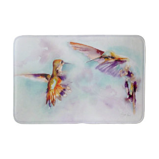 Tapete De Banheiro Impressão crepuscular do colibri dos dançarinos