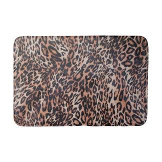 Tapete De Banheiro Impressão da pele do leopardo