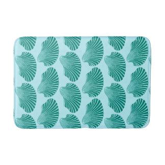 Tapete De Banheiro Impressão de bloco de Shell de Scallop, turquesa e