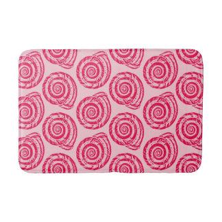 Tapete De Banheiro Impressão de bloco espiral do Seashell,