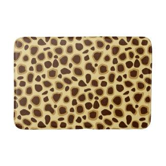 Tapete De Banheiro Impressão do leopardo, castanho chocolate e camelo