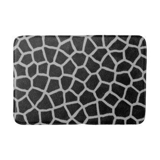Tapete De Banheiro Impressão preto e branco do girafa
