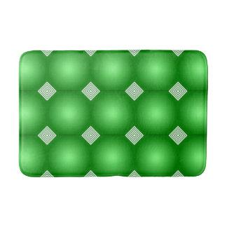 Tapete De Banheiro Inclinação verde com listras brancas