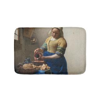 Tapete De Banheiro JOHANNES VERMEER - O milkmaid 1658