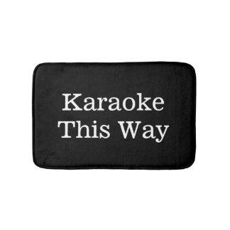 Tapete De Banheiro Karaoke engraçado do presente do cantor esta