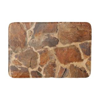 Tapete De Banheiro Laranja dourada da estrutura da parede de pedra da