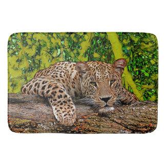Tapete De Banheiro Leopardo preguiçoso