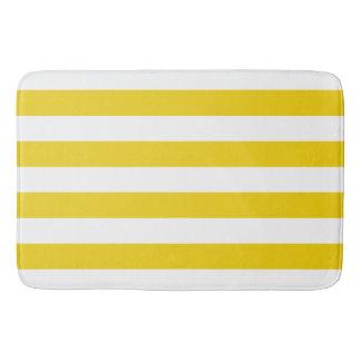 Tapete De Banheiro Limão chique - teste padrão amarelo das listras
