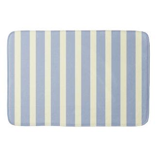 Tapete De Banheiro Listras brancas azuis