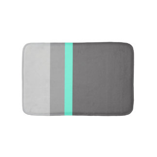 Tapete De Banheiro listras claras elegantes do cinza da hortelã