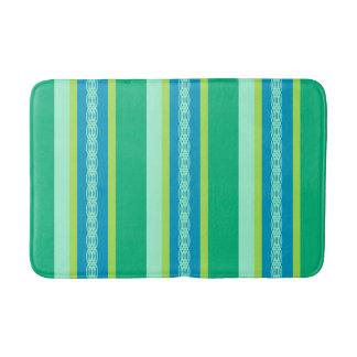 Tapete De Banheiro Listras do toldo do meio século, verde de jade