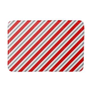 Tapete De Banheiro Listras do verão - branco vermelho escuro e