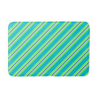 Tapete De Banheiro Listras do verão - turquesa e verde limão