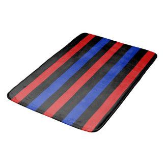 Tapete De Banheiro Listras vermelhas, pretas e azuis 3688