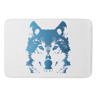 Tapete De Banheiro Lobo do azul de gelo da ilustração