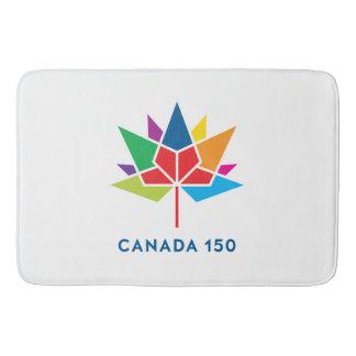 Tapete De Banheiro Logotipo do oficial de Canadá 150 - multicolorido