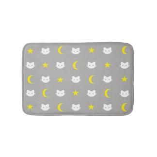 Tapete De Banheiro Lua do gato do gatinho e esteira de banho das