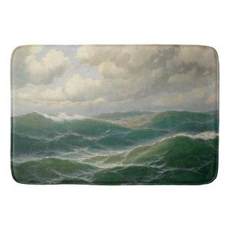 Tapete De Banheiro Luz na esteira de banho do mar do oceano das ondas