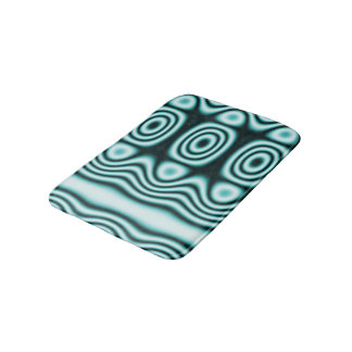 Tapete De Banheiro Luz - ornamento geométrico azul