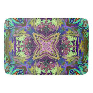 Tapete De Banheiro Mandala abstrata colorida