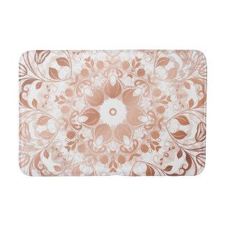 Tapete De Banheiro Mandala floral do ouro cor-de-rosa