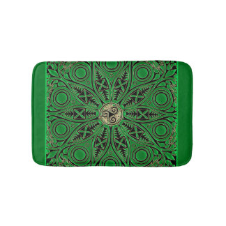 Tapete De Banheiro Mandala verde de Kelly Triskele
