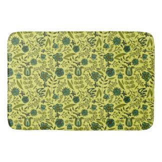 Tapete De Banheiro Mão colorida abstrata design floral tirado do