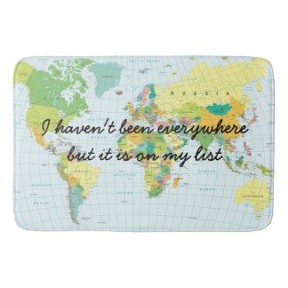 Tapete De Banheiro Mapa do mundo - eu não estive em toda parte…