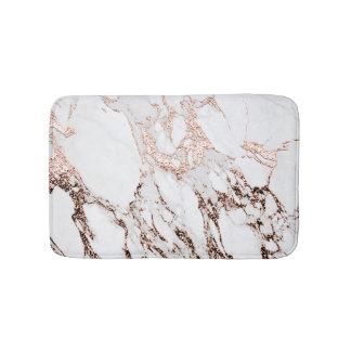 Tapete De Banheiro Mármore preto metálico do brilho cor-de-rosa do