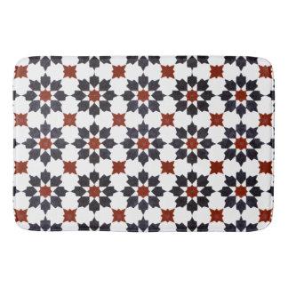 Tapete De Banheiro Marroquino teste padrão de estrela de oito pontos