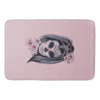 Tapete De Banheiro Máscara do esqueleto da mulher