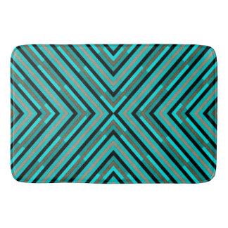 Tapete De Banheiro Máscaras Checkered diagonais modernas do teste