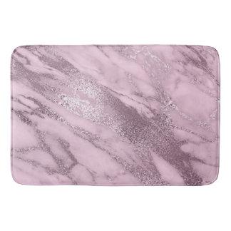 Tapete De Banheiro Metálico de pedra de mármore malva do Lilac