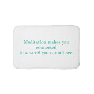 Tapete De Banheiro Minha esteira de banho das citações da meditação