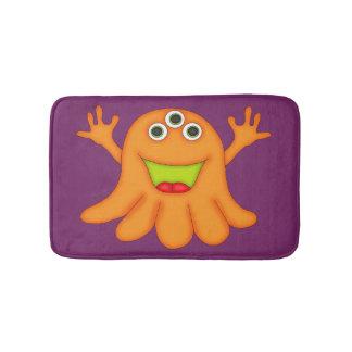 Tapete De Banheiro Monstro-Miúdos Três-Eyed alaranjados bonitos