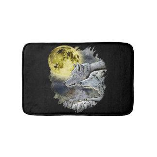 Tapete De Banheiro Montanha da lua do lobo da fantasia