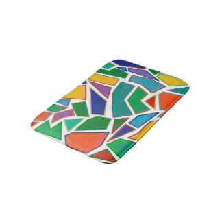 Tapete De Banheiro Multi teste padrão abstrato do design da arte do