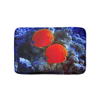 Tapete De Banheiro Natação submarina tropical dos peixes no coral