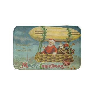 Tapete De Banheiro Natal engraçado do Victorian do vintage do papai