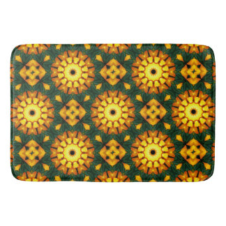 Tapete De Banheiro Natureza alaranjada da íris amarela, Flor-Mandala