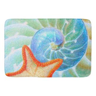 Tapete De Banheiro Nautilus e estrela do mar