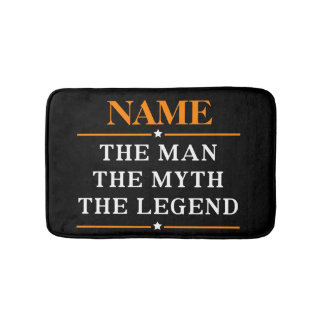 Tapete De Banheiro Nome personalizado o homem o mito a legenda
