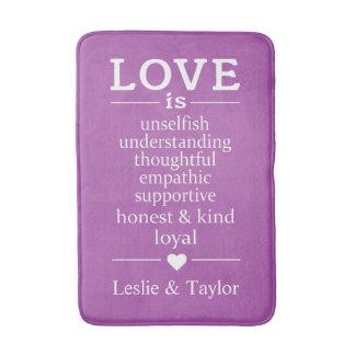 Tapete De Banheiro O amor é… nomes feitos sob encomenda & esteiras de